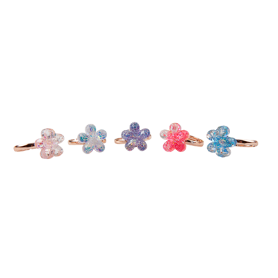 Bagues Boutique Shimmer Flower, 5 Pcs